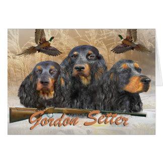 Cartão Faisão da caça do setter de Gordon