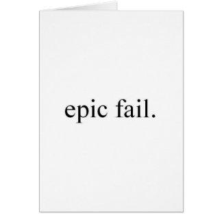 Cartão falha épico
