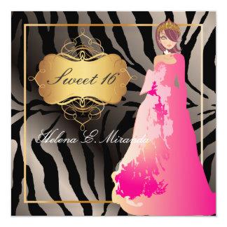 Cartão FALSO SILVER/Sweet 16/Quinceañera da ZEBRA