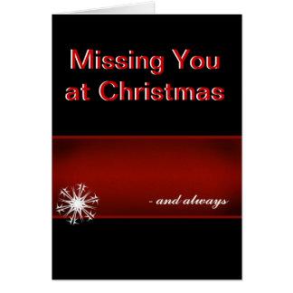 Cartão Faltando o no Natal