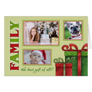 Cartão Família do Natal, o melhor presente de tudo -