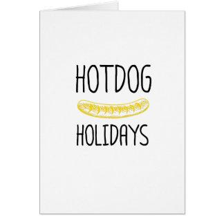 Cartão Família do partido de feriados do Hotdog engraçada