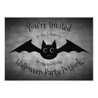 Cartão Família do partido do potluck do Dia das Bruxas