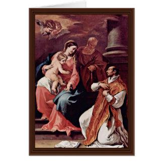 Cartão Família e St Ignatius santamente de Loyola pelo SE