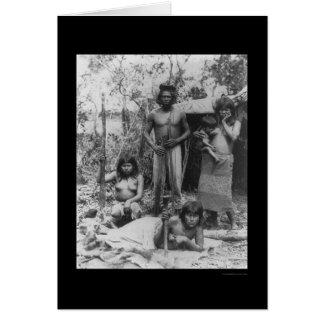 Cartão Família indiana no Amazon em Brasil 1902