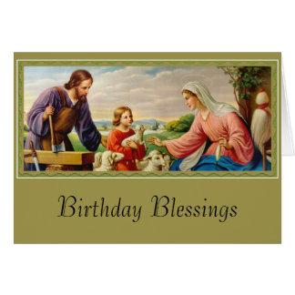Cartão FAMÍLIA SANTAMENTE St Joseph, Jesus, Mary