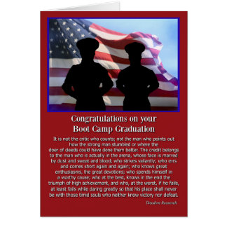 Cartão famoso das citações da graduação militar de