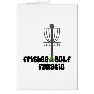 Cartão Fanático do golfe do Frisbee