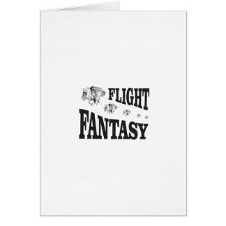 Cartão fantasia do vôo