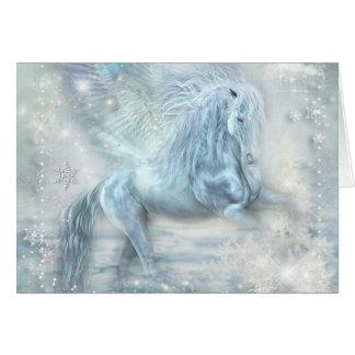 Cartão Fantasia Pegasus do gelo