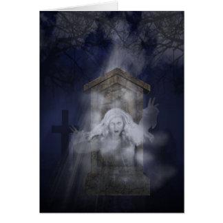 Cartão Fantasma do Dia das Bruxas