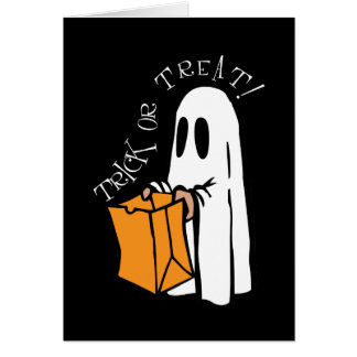 Cartão Fantasma do Dia das Bruxas da doçura ou travessura