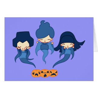 Cartão Fantasmas de Kokeshi