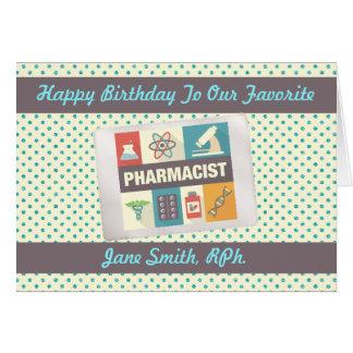 Cartão Farmacêutico profissional•Aniversário feito sob