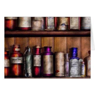 Cartão Farmácia - ingredientes da medicina