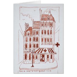 Cartão Farmácia no Boulogne-sur-Mer velho da cidade |,