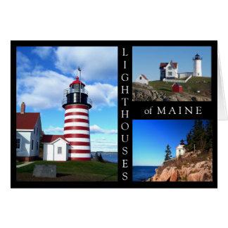 Cartão Faróis de Maine