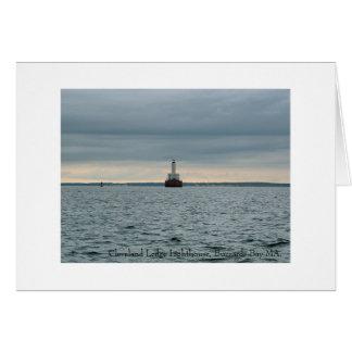 Cartão Farol da borda de Cleveland, baía miliampère dos