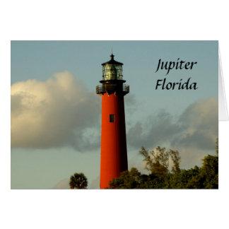 Cartão Farol da entrada de Jupiter