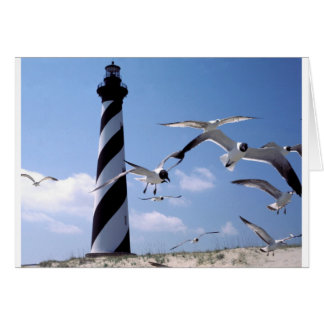 Cartão Farol de North Carolina do farol de Hatteras do