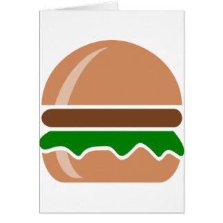 Cartão Fast food do Hamburger um sanduíche