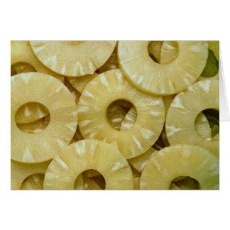 Cartão Fatias do abacaxi