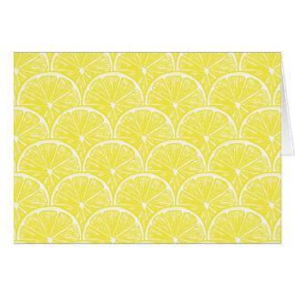 Cartão Fatias do limão