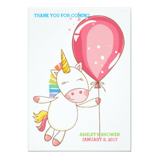 Cartão Favor do bálsamo de bordo do balão do unicórnio do