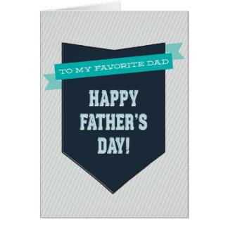 Cartão favorito do dia dos pais do pai