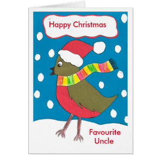 Cartão favorito do tio do Natal feliz