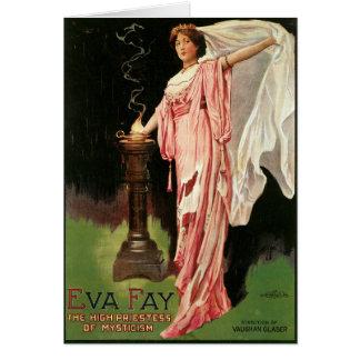 Cartão Fay de Eva do vintage, sacerdotisa alta do