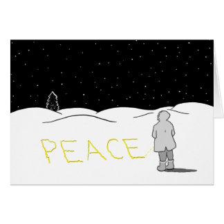 Cartão Faz xixi a mudança que você quer ver: Paz