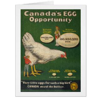 Cartão Fazenda de galinha patriótica