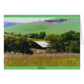 Cartão Fazenda de Oregon