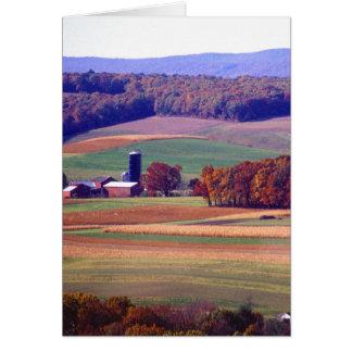 Cartão Fazenda de Pensilvânia no outono