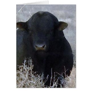 Cartão Fazenda feliz bonito Bull do rancho do dia dos