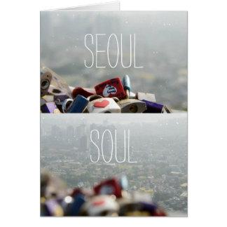 Cartão Fechamentos do amor de Seoul
