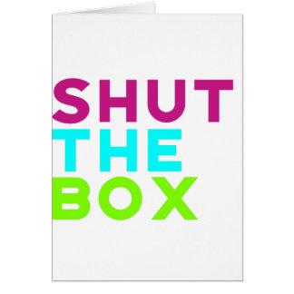Cartão Feche o logotipo da caixa
