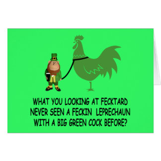 Cartão Fecktard do dia de St Patrick feliz