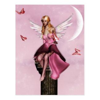 Cartão feericamente cor-de-rosa da fantasia