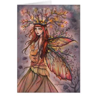 Cartão feericamente da arte da fantasia da rainha