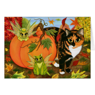 Cartão feericamente da arte do outono da queda das