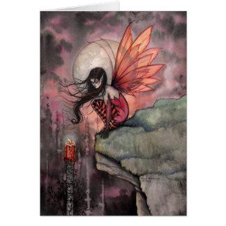 Cartão feericamente da arte do outono gótico por