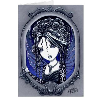 Cartão feericamente da arte do tatuagem gótico de