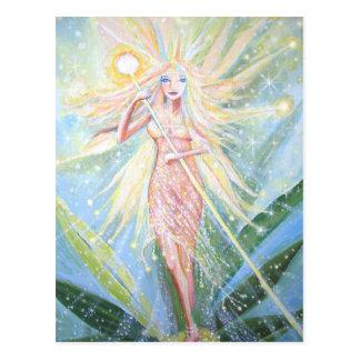 """Cartão feericamente da arte - o """"cristal ilumina a"""