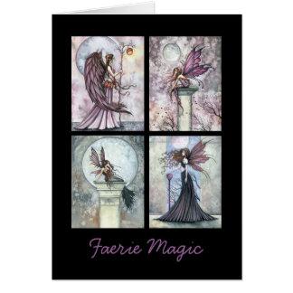 Cartão feericamente da mágica do país das fadas do