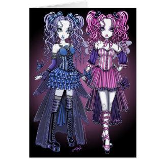 Cartão feericamente das irmãs do Couture gótico de