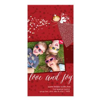 Cartão feericamente do feriado do Natal dos flocos