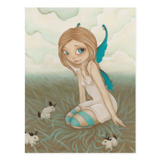 Cartão feericamente do jackalope dos prados doces