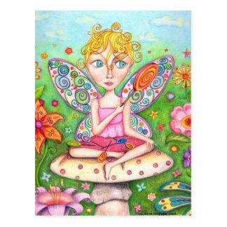 Cartão feericamente do pirulito - arte bonito do